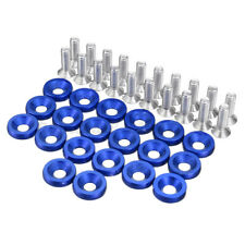 20Pcs M6 Car Fender Bumper Washer Bolt Engine Bay Dress Up Kit Aluminum