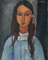 Alice Amedeo Modigliani Fine Art Poster Print on Canvas HQ Home Decor Small 8x10