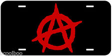 Anarchy Aluminum Novelty Car License Plate