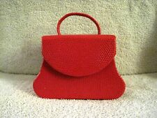 BEAUTIFUL - PURSE - JEWELRY BOX - TRAVEL CASE - RED LEATHER - GREAT GIFT ITEM!