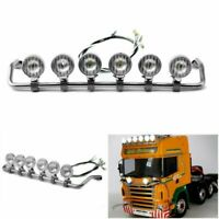 Stainless Steel LESU LED Spotlight Toplight For 1/14 TAMIYA Scania R620 R470 RC