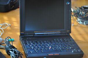 "IBM VINTAGE  ThinkPad 365X w Win 95 installed 3 1/2"" Floppy disk drive, AC power"
