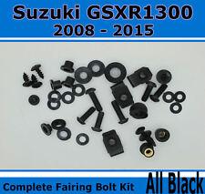 Fairing Fasteners Complete Bolt Kit Black Screws for SUZUKI 2008-2015 GSXR 1300