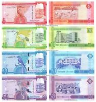 Gambia 5 + 10 + 20 + 50 Dalasis 2015 Set of 4 Banknotes 4 PCS New Design UNC