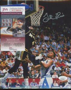 Glenn Rice Michigan Signed 8x10 Photo AUTO Autograph JSA COA