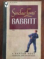 Babbitt (Good) Sinclair Lewis 1946 Drama Paperback