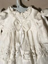 ANTIQUE silk,dress for FRENCH doll 8, 9, 10 Jumeau Steiner Bru antique lace