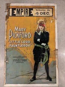 "Mary Pickford ""Little Lord Fauntleroy"" Original Movie Poster"