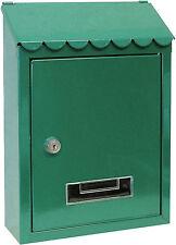 Cassetta postale per posta Capri con tettuccio cm 21x6x30 h colore verde