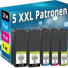 5 TINTE PATRONEN für Lexmark 150XL Interpret S315 S415 S515 Pro715 Pro910 Pro915