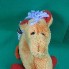 GUND CARAMEL CAMEL BABY TOY PLUSH STUFFED ANIMAL ORANGE PURPLE YARN LEGS TOY