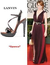 LANVIN Opanca crystal-embellished leather sandals Retail $ 2,790 Size:36 NEW