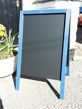 Large Blue Wooden A Board - Chalkboard - Blackboard - Pavement Sign - 100 x 60cm