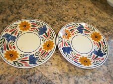 Set of 2 ~ Vintage Societe Ceramique Maestricht Holland ~ Dessert Plates Floral