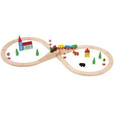 Wooden Train Set 37pcs - Basic - Compatible with Brio & Thomas