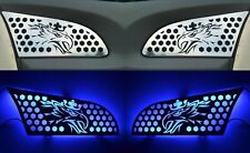 LED illuminated in Blue Stainless Steel Upper Air Vent Covers SCANIA R 2010/16