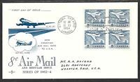 Canada #436 New Air Mail Rate to USA FDC