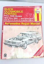 Haynes Repair Manuals Buick / Olds / Pont. Full-Size (RWD) 19025 (1551)