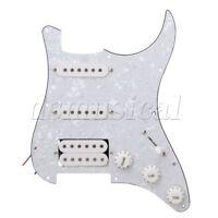 Loaded Prewired Pickguard SSH White Pearl for  ETC Guitar
