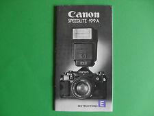 Canon Speedlite 199 A Instructions Anleitung BDA Gebrauchsanweisung englisch
