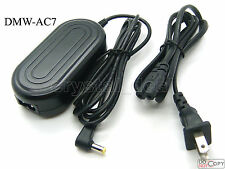 AC Adapter Power Supply For DMW-AC7 Panasonic Lumix DMC-FZ50 DMC-FZ30 DMC-FZ35