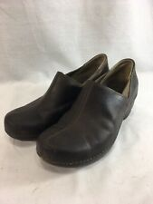 Patagonia Shoes Womens 7.5 Deep Espresso Brown Leather Clogs Comfort Casual