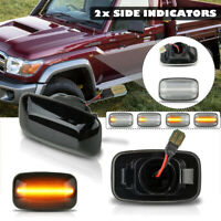 Dynamic LED Side Fender Indicator Light For Toyota Landcruiser 70 80 100
