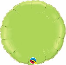 Qualatex Solid Colour ROUND Shaped Foil Party Balloons Decoration {Air/Helium}