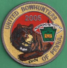 """Pa Pennsylvania Fish Game Commission NEW 4"""" 2005 Bear United Bowhunters Patch"""