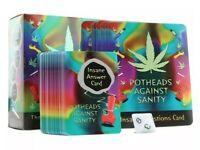 POTHEADS AGAINST SANITY Fun Card Game Weed PARTY Drinking, Office SALE Present