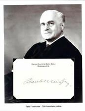 Felix Frankfurter Autograph Supreme Court Judge Founder ACLU Insular Affairs #2