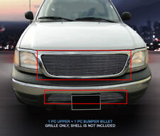 99-03 Ford F-150 F150 Billet Grille Grill Combo Insert 2 Bar Style Fedar