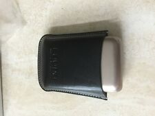 leather business card holder -black