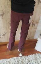 CARHARTT ziggy pant Louisiana tapered fit zip Fly jeans uomo Wine w28 l32 NUOVO