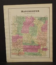 New York  Ontario County Map Manchester  Township 1874 W15#26