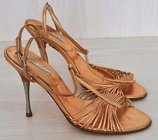 URBAN SOUL Rose Gold Strappy Stilettos