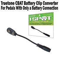 Truetone CBAT 1 Spot Battery Clip Cable 9V Power Adaptor One Spot Visual Sound