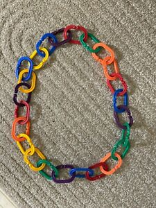 24 BOOMERINGS Links by Discovery Toys ,Made in the USA, BPA Free Baby Attach