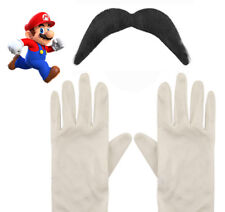 Supermario Mario Glove And Moustache Set Halloween Adult Costume Cosplay Plumber