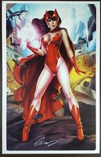 Scarlet Witch Signed Exclusive 11 X 17 Signed Art Print By Elias Chatzoudis Nm