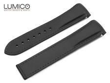 Fits OMEGA 20mm 22mm BLACK Rubber Silicone Strap Watch Band for Buckle Clasp