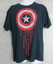 Marvel Captain America Mens T-Shirt New Navy Shield Large Officially Licensed