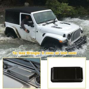 Hood Air Vent Scoop Cover Cowl Trim for Jeep Wrangler JL 18+/JT 20+ Carbon Fiber