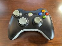 Official Microsoft XBOX 360 Wireless Black & Gray Controller Tested + Working