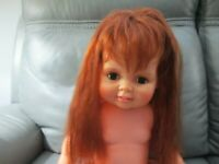 Vintage Ideal Baby Crissy Doll With Red Growing Hair 1972 23""