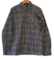 🌻BEN SHERMAN SIZE XL BLACK & WHITE COTTON CHECK SHIRT LIKE NEW