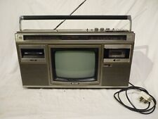VINTAGE 1980S SHARP 10P-35 GHETTO BLASTER BOOM BOX WITH TV, RADIO & TAPE-WORKING