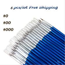 6pcs/set Line Pen Drawing Art Paint Brush Fine Hand-painted Hook #0 #00 #000