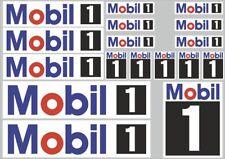 Mobil 1 Decal Set Quality Sticker Vinyl Graphic Logo Adhesive Kit 17 Pcs