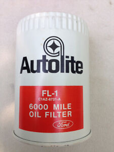 NOS 1967 Ford Autolite FL-1 6000 Mile Oil Filter 427 Mustang Ford # C1AZ-6731-A